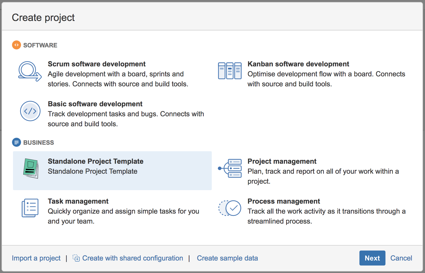 Standalone Project Template For Jira Server Mraddon