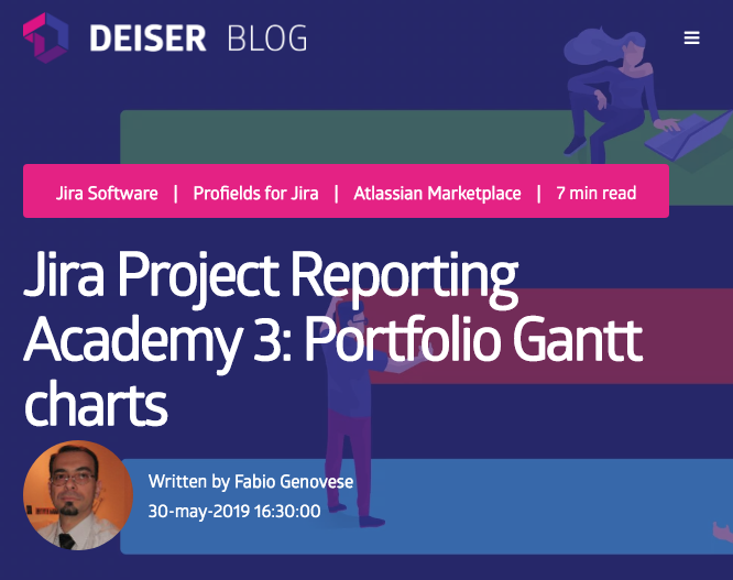 Discover the incredible posts by Fabio Genovese for the Deiser blog. Jira Profields and eazyBI stories.